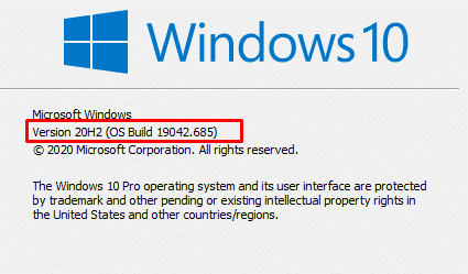 How to find your exact windows 10 version that your computer is running.