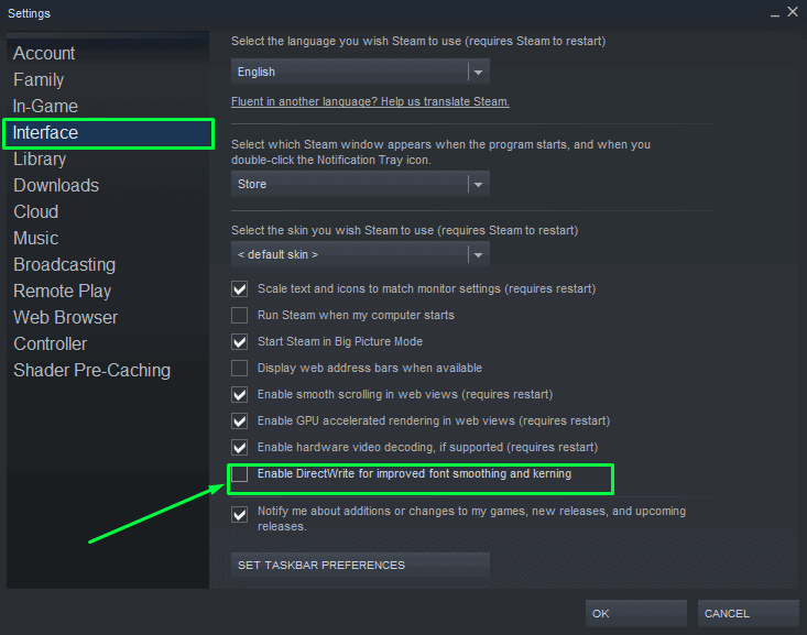 How to Disable DirectWrite for improved font smoothing and kerning on Steam in order to fix Steam Black Screen