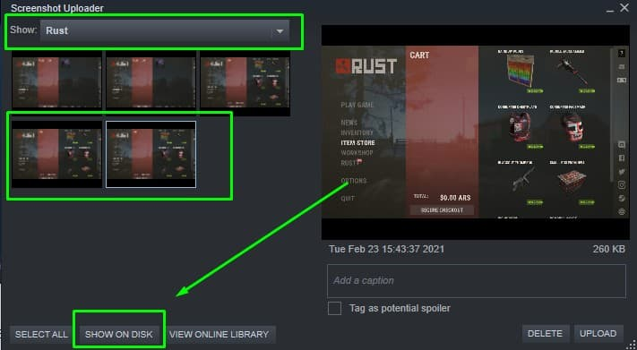 How to find the Steam screenshot folder