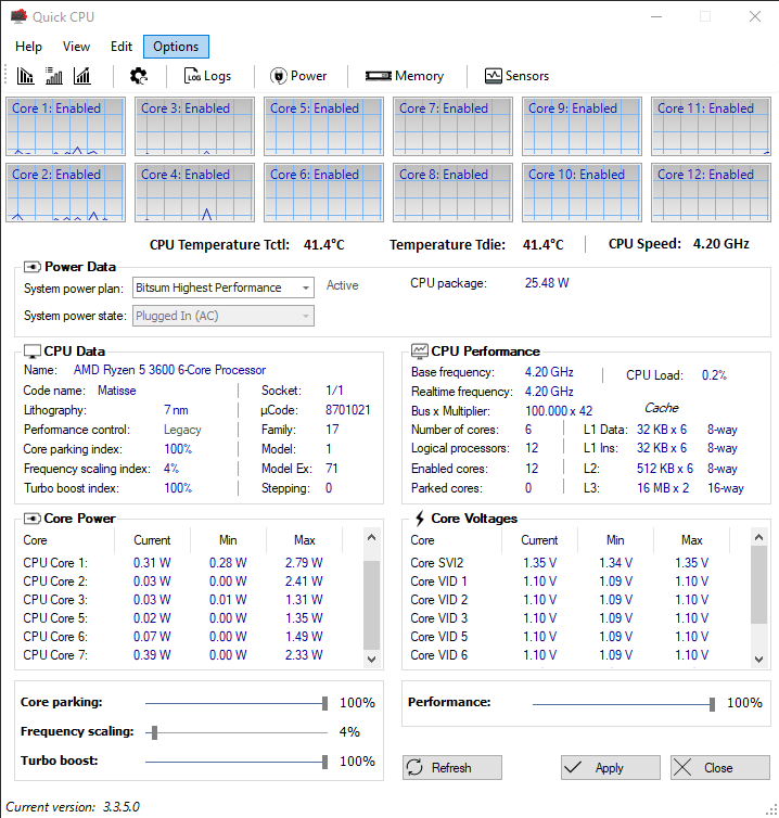 How unparked CPU cores look like