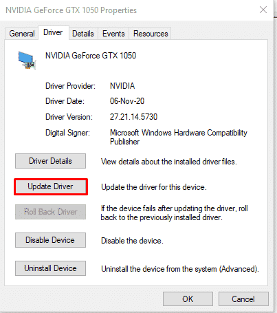How to update your NVidia GPU drivers from the device manager