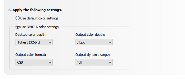 Best Resolution settings in Nvidia control panel , part 2
