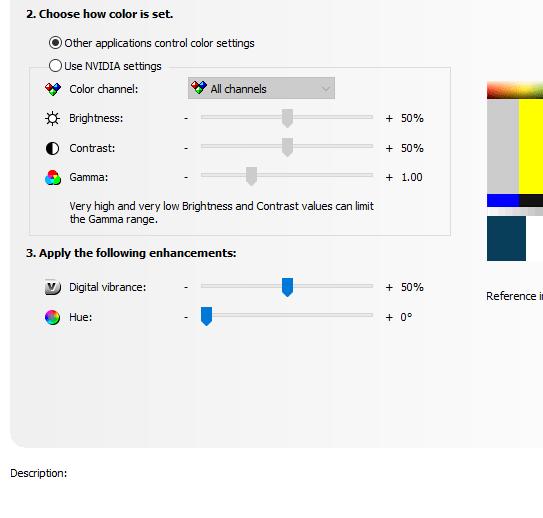 Best desktop colors in Nvidia control panel