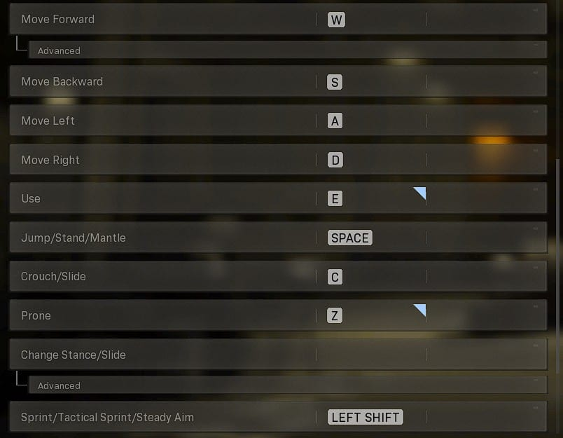 Best Warzone Keyboard settings & Keybinds based on Symfuhny Warzone Settings
