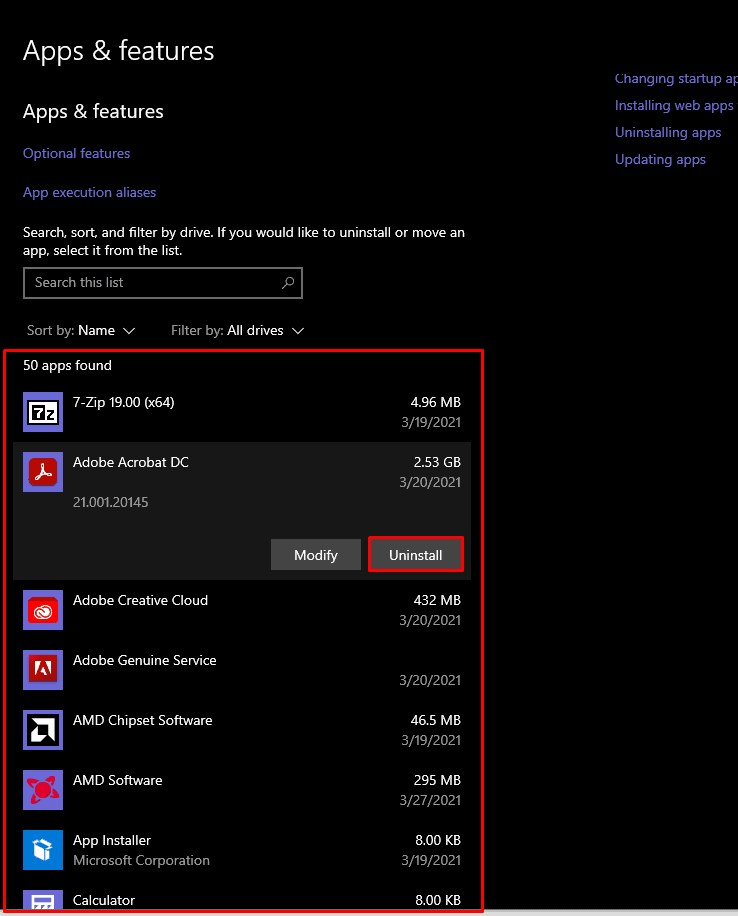 How to uninstall apps you are not using on Windows 10.