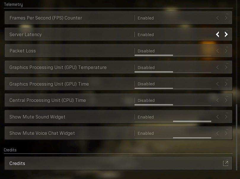Best General settings on Warzone, Telemetry settings.