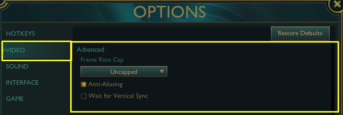 How to uncap your FPS in league of legends