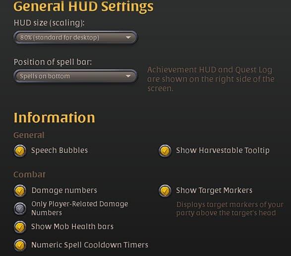 Best Albion Online interface settings.