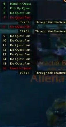The interface of Azeroth AutoPilot WoW Leveling and Questing addon in-game.