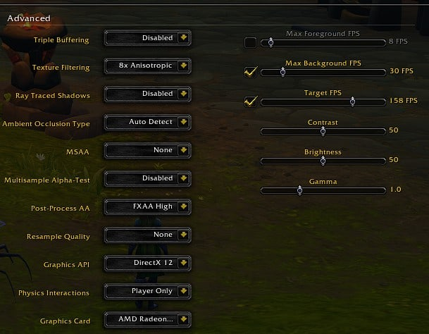Best WoW(World of Warcraft): Shadowlands Advanced graphics settings