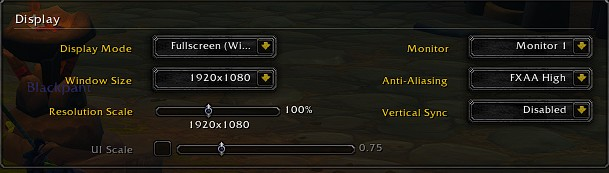 Best WoW(World of Warcraft): Shadowlands Display settings