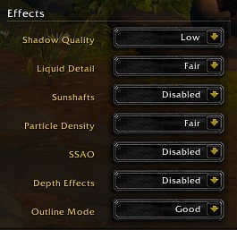 Best WoW(World of Warcraft): Shadowlands effects settings