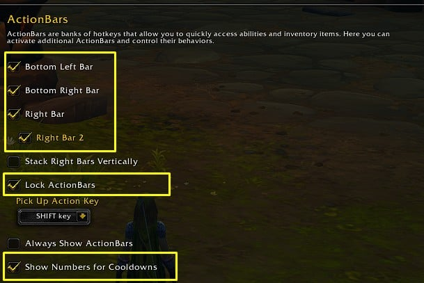Best WoW Interface ActionBars settings
