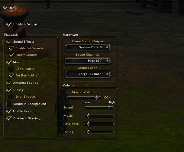 Best WoW Sound settings