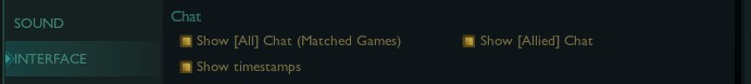 Best chat settings in League of Legends