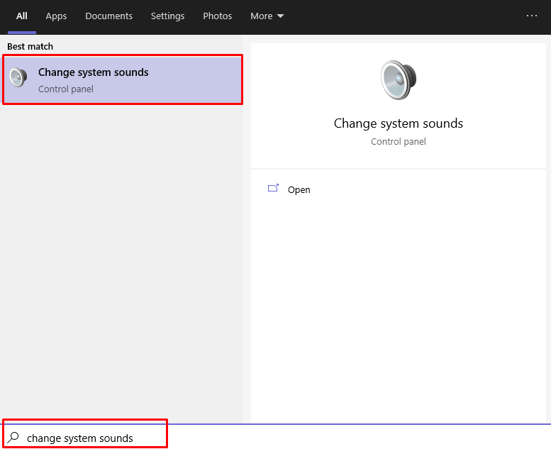 How to access Windows sound settings