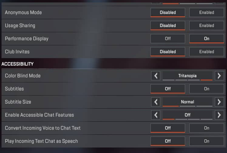 Best Apex Legends settings for the Gameplay tab( part 2 )