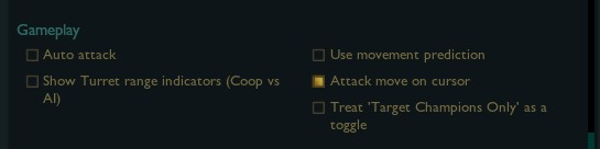 Best gameplay settings for League of Legends.