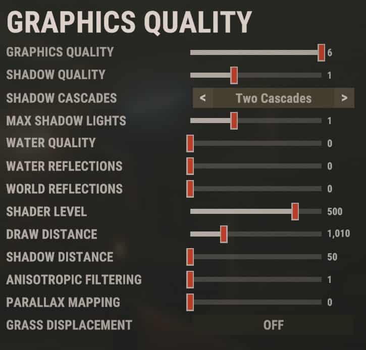 Best Rust Graphics settings