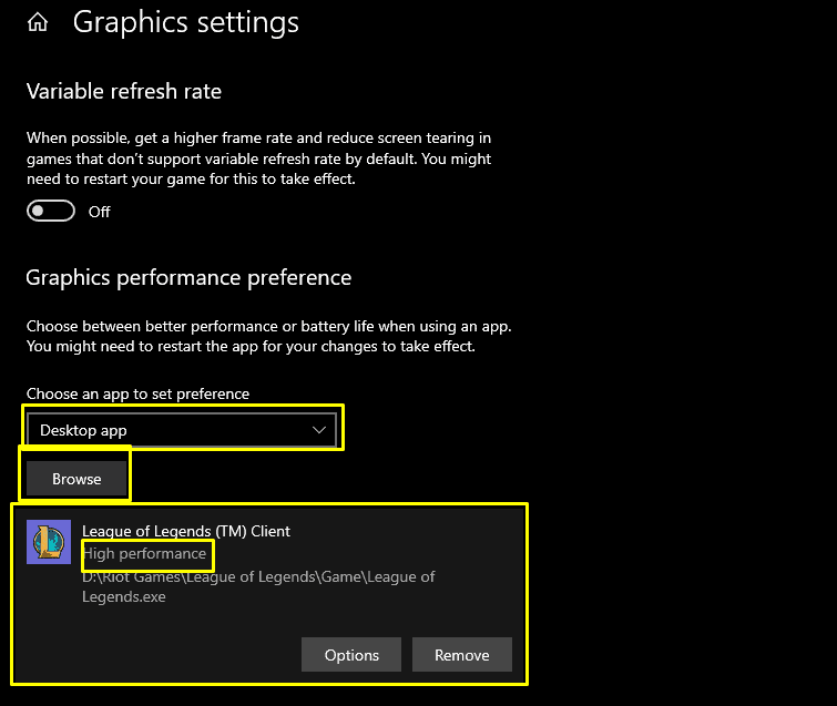 How to set league of legends to run o performance graphics mode.