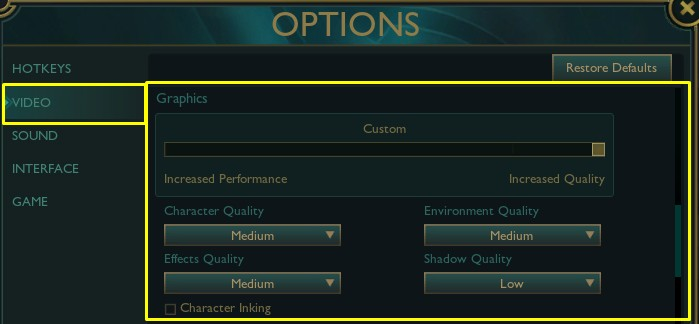 Best League of Legends Graphics settings for best performance and fps.