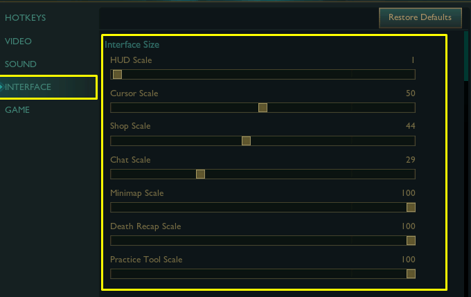 Best interface settings in League of Legends, optimizing how everything looks.