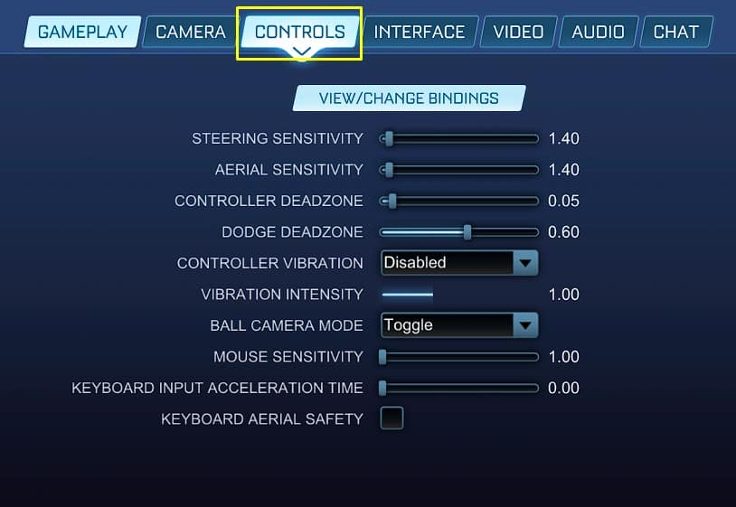 Best Rocket League Controls settings, sensitivity.