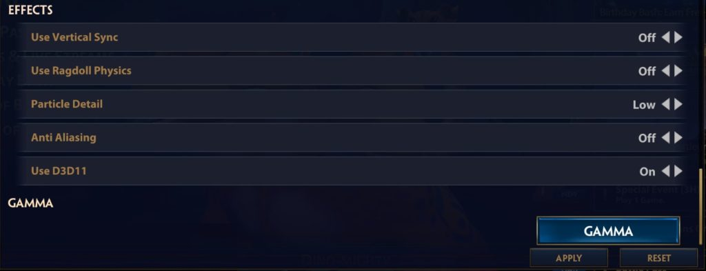 Best Smite settings for Graphics tab ( Effects )