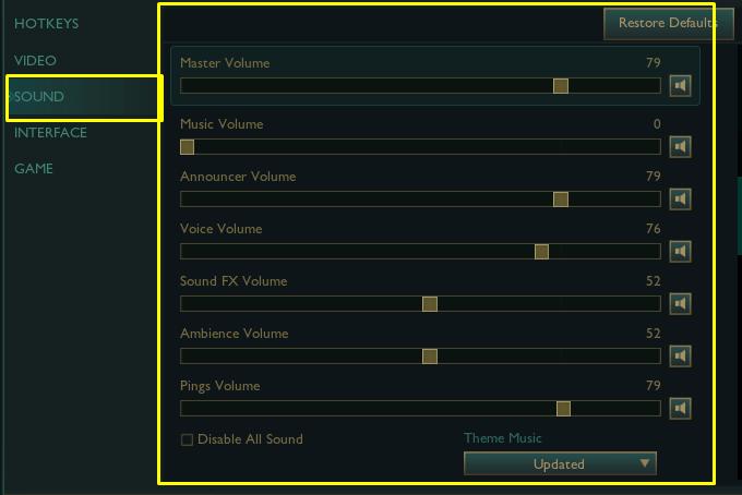 Best Sound settings in League of Legends