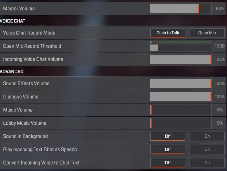 Best Apex Legends audio settings