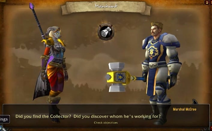 The interface of StoryLine WoW Leveling and Questing addon in-game.