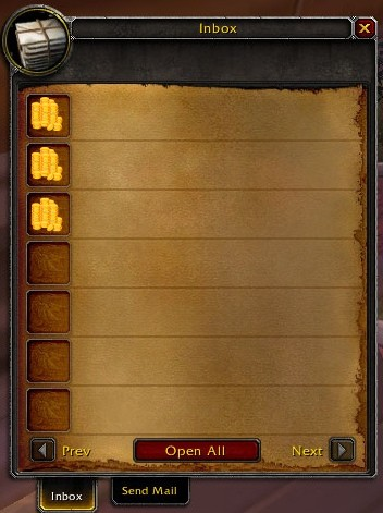 Buying WoW Gold with in-game email
