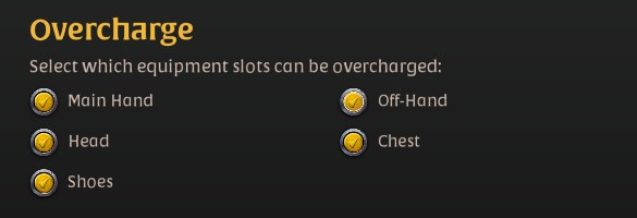 Best Albion online general settings as described in the post. ( OVERCHARGE TAB )