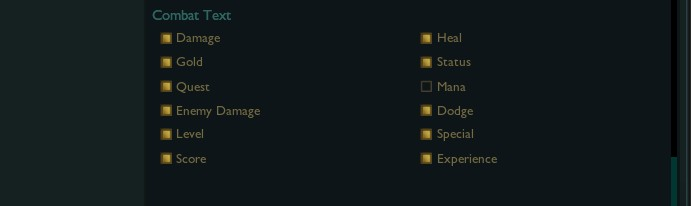 Combat text settings in league of legends. My recommendations