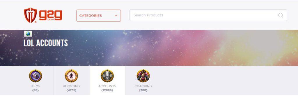 G2G website screenshot