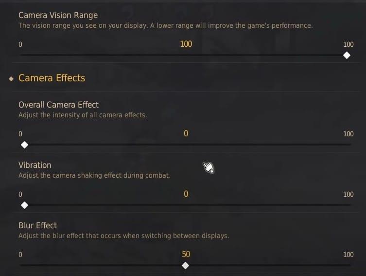 Best BDO Camera Graphics Settings