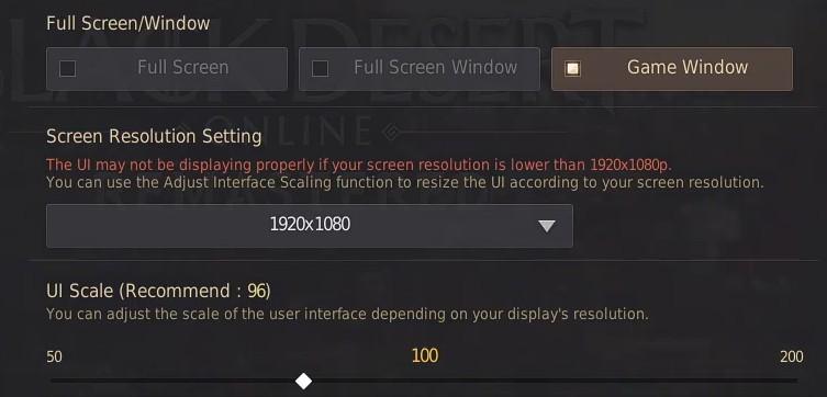 Best BDO Display settings - Game Window Tab