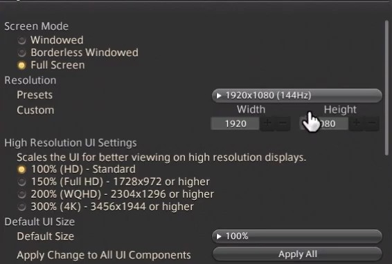 Best FFXIV Display Settings, which are mentioned above. (Part 1)