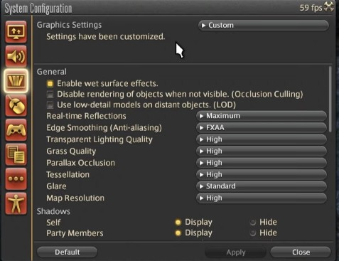 Best FFXIV Graphics Settings, which are mentioned above. (Part 1)
