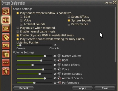 Best FFXIV Sound Settings, which are mentioned above. (Part 1)