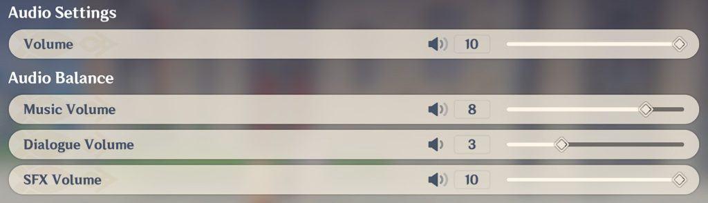 Best Genshin Impact Audio Settings