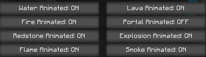 Best Animations settings for Minecraft