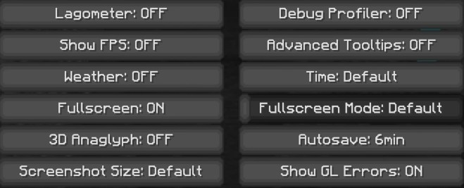 Best Minecraft Other settings
