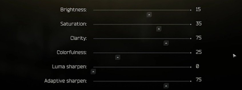 Best POSTFX  tab settings for Escape From Tarkov(EFT), part 1.