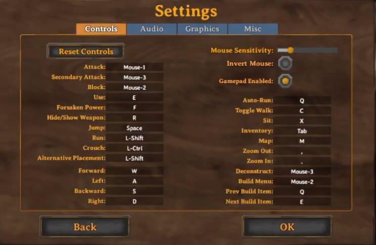 Best Valheim Controls Settings