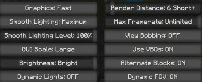 Best Graphics/Video settings for Minecraft