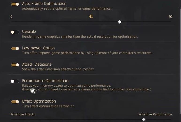 Black Desert Online Optimization Settings
