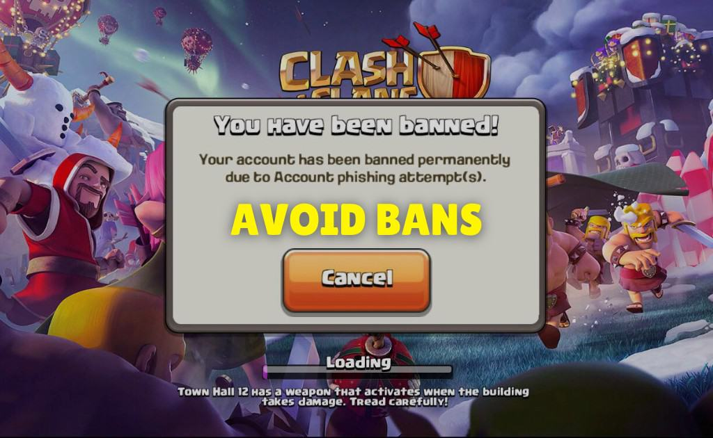 How to avoid bans when purchasing a clash of clans coc account