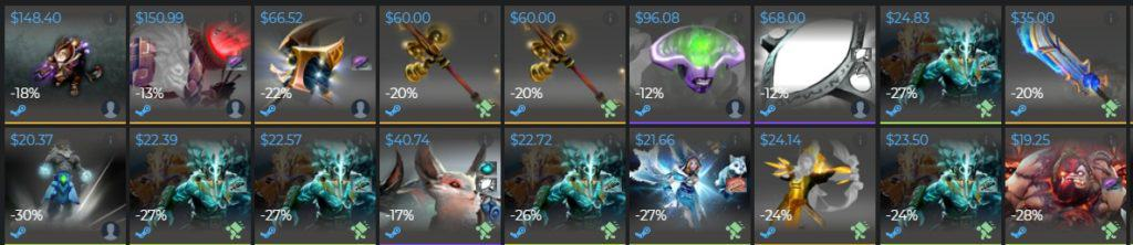 Example of Dota 2 Items for sale