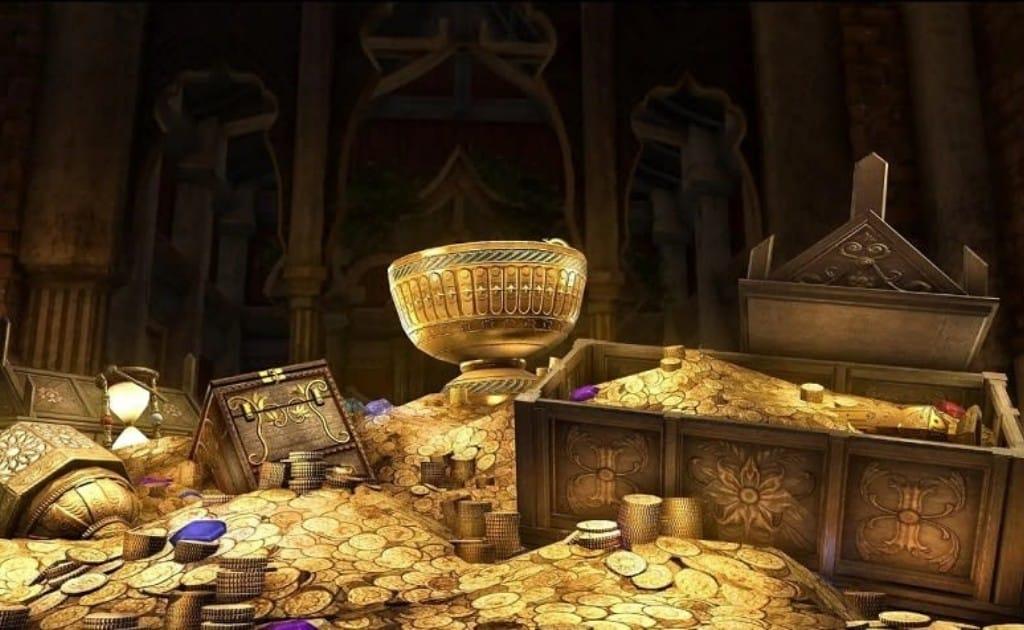 How Elder Scrolls Online gold looks in game.
